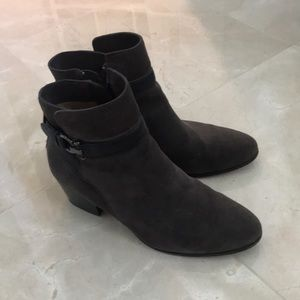 Coach suede booties